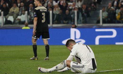 Cristiano Ronaldo war nach der Niederlage gegen Ajax bitter enttäuscht