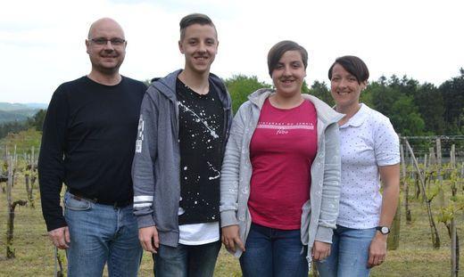 Die Familie Stranzl heute mit Papa Andreas, David, Schwester Andrea und Mama Bettina