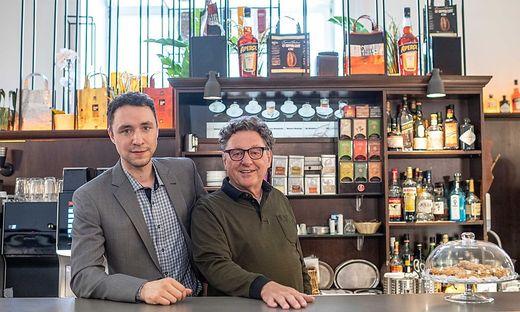 Simon und Rudi Lackner vom Café Kaiserfeld