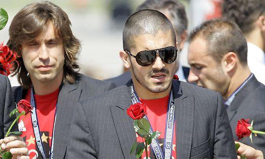 Ein Bild aus alten Tagen - Andrea Pirlo und Gennaro Gattuso bei Milan