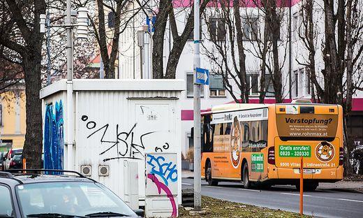 Auch hier in der Völkermarkter Straße in Klagenfurt wird die Luftgüte gemessen