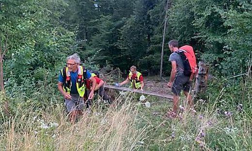 Bergrettung und Alpinpolizei rückten aus