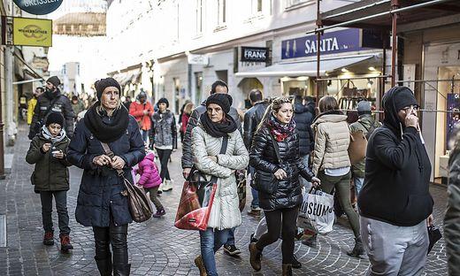 Einkaufssamstag Shopping City Arkaden und Innenstadt Klagenfurt November 2016