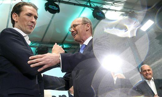 EU-WAHL: OeVP ZENTRALE: KURZ / KARAS