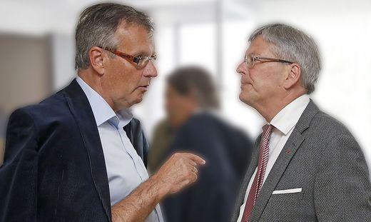 Gernot Nischelwitzer (links) und Landeshauptmann Peter Kaiser