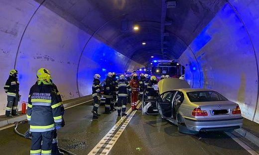 Der Tunnel musste nach dem Unfall gesperrt werden