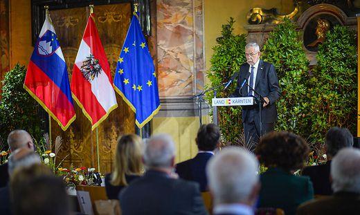 Van der Bellen bei seiner Rede im Wappensaal