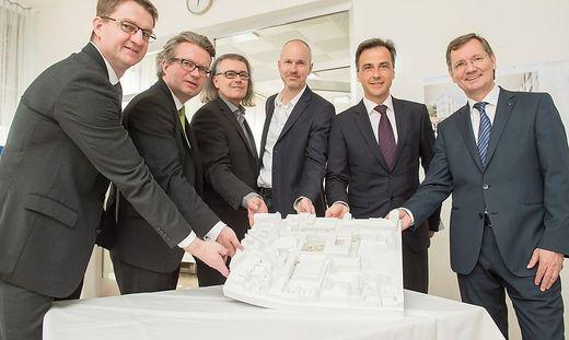 """Umbau des """"Barmherzigen""""-Spitals in Graz auf Schiene."""