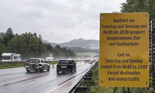 Ab heute gelten Abfahrverbote auf A10 in Salzburg