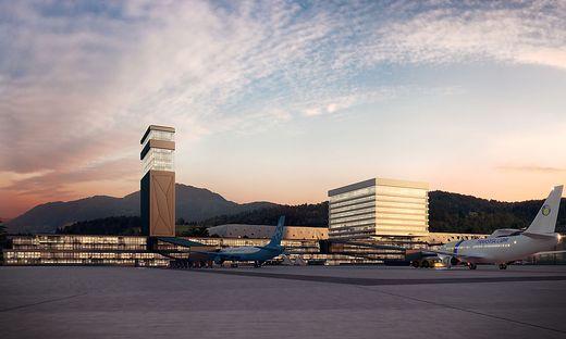 Franz Peter Orasch und seine Vision vom Alpe-Adria-Airport in Annabichl. In Zahlen: 700.000 Passagiere jährlich, 160 Millionen Euro Investititionssumme soll 600 neue Jobs schaffen
