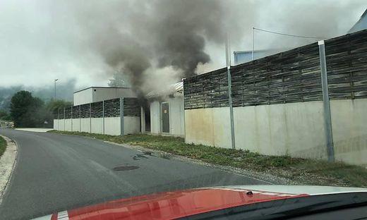 In einem Industriegebiet im Bezirk Völkermarkt brannte ein Transfortmator. Drei Feuerwehren rückten aus