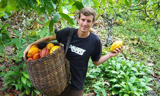 Richard Hofer achtet bei seinem Kakao auf fairen und biologischen Anbau sowie höchste Qualität