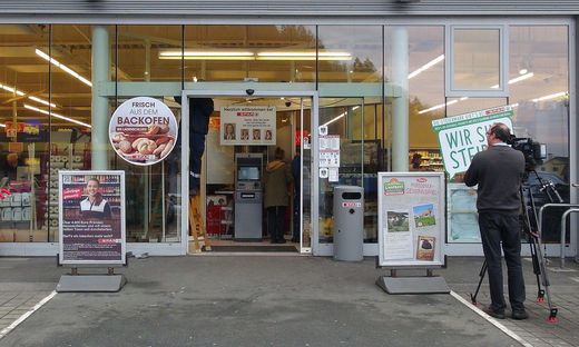Das Foyer des Spar-Marktes in Arnfels
