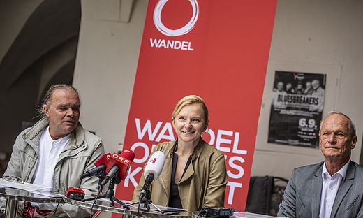 Liste Wandel: Franz-Josef Lesjak, Dani Platsch, Christian Raming (von links)