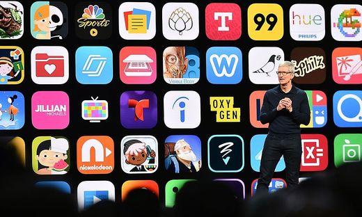 Apple-Chef Tim Cook auf der WWDC-Entwicklerkonferenz 2018