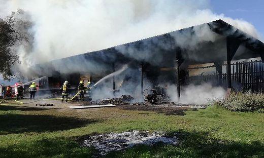 Das Nebengebäude stand in Flammen