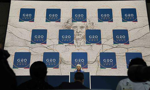 US-Finanzministerin Janet Yellen beim G20-Finanzministergipfel in Venedig
