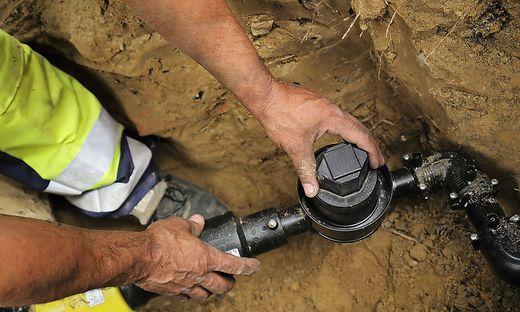 Nachdem ein altes Wohnhaus in Lebring abgerissen wurde, vergaß man die Gasleitung abzudrehen