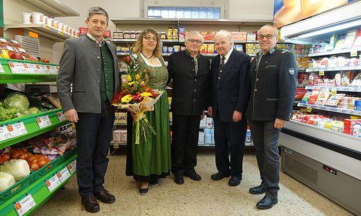 Fritz Pichler, Maria Handler, Anton Hasmann, Franz Platzer und Heinz Langerwisch (v. l.)