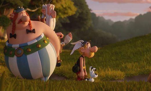 Obelix, Miraculix, Asterix und Idefix
