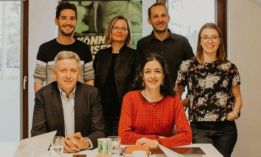 Der neue grüne Klub: Lambert Schönleitner, Georg Schwarzl, Veronika Nitsche, Sandra Krautwaschl (Obfrau) Alexander Pinter und Lara Köck
