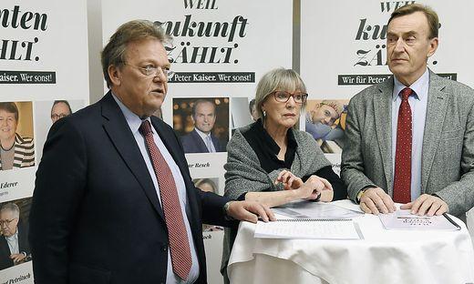 Gilbert Isep, Heidelinde Weis und Manfred Freimüller