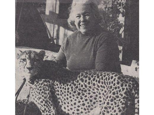 Trude Klinzer hielt sich in Scheifling über zehn Jahre einen Gepard als Haustier