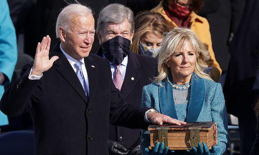 Joe Biden beim Amtseid