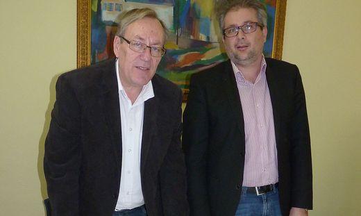 Ernst Meixner mit Stadtamtsdirektor Gernot Thürschweller