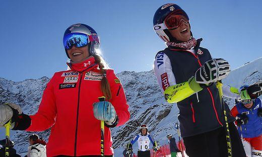 Lindsey Vonn und Mikaela Shiffrin