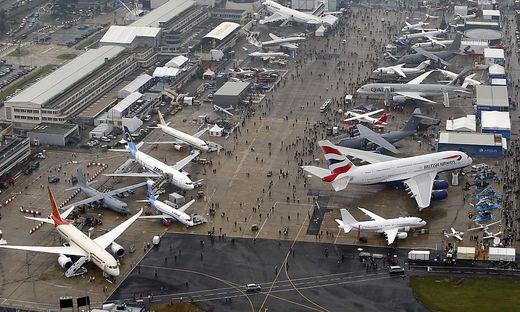 Luftfahrtmesse Le Bourget bei Paris