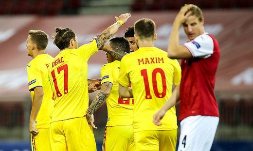 Österreich unterlag Rumänien in Klagenfurt