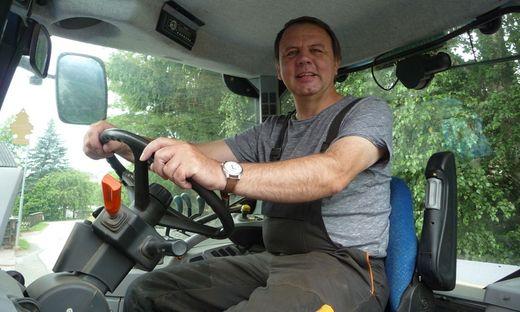 Am liebsten vom Funkhaus in Graz direkt auf den Traktor daheim: ORF-Mann Sepp Loibner