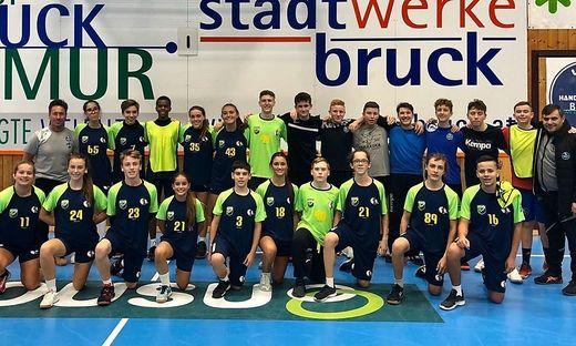 In der Sporthalle standen Testspiele gegen Bruck und die HIB Liebenau auf dem Programm