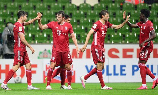 Jubel bei Bayern München