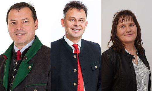 Die Spitzenkandidaten Karl Maier (SPÖ), Bürgermeister Peter Neger (ÖVP) und Beate Bobner (FPÖ)