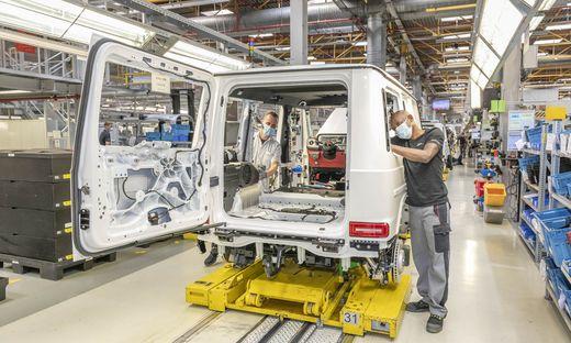 """Der Mercedes """"G"""" wird bei Magna in Graz gefertigt"""