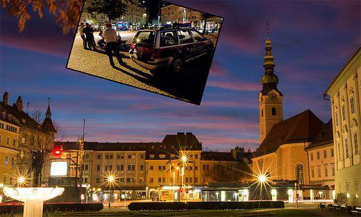 Der Heiligengeistplatz in Klagenfurt ist Treffpunkt Jugendlicher und Ort von Polizeieinsätzen
