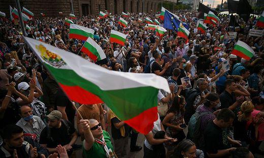 Monatelang forderten Demonstranten bereits den Rücktritt Borissows
