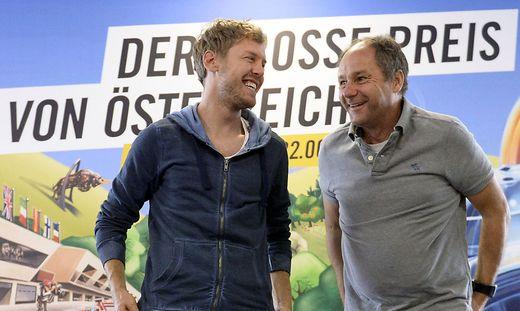Sebastian Vettel (links) und Gerhard Berger