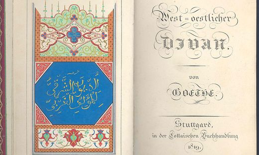 """Johann Wolfgang von Goethe schrieb vor 200 Jahren den """"West-östlichen Divan"""""""