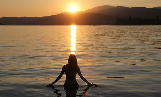 Sonnenuntergang am Woerthersee , Kalenderfotos,