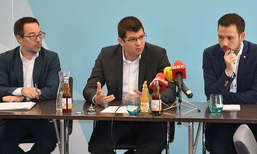 Markus Malle, Martin Gruber und Sebastian Schuschnig (von links)