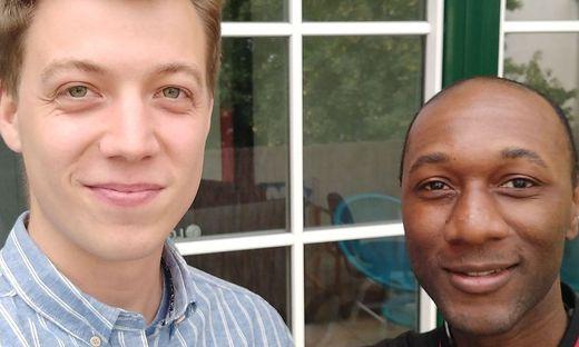 Daniel Poschinger und Aloe Blacc bei ihrem Treffen in Wien.