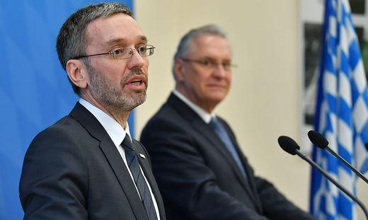 BM KICKL BESUCHT BAYERNS INNENMINISTER HERRMANN: kickl (FPOe) / HERRMANN (CSU)