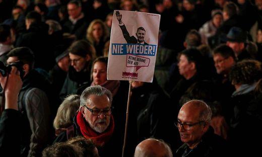 Proteste nach Hanau gegen die AfD