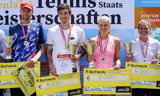 Maximilian Neuchrist, Sebastian Ofner, Sinja Kraus und Yvonne Neuwirth