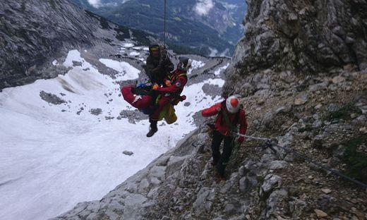 Drei ungarische Bergsteiger aus Priel-Klettersteig gerettet