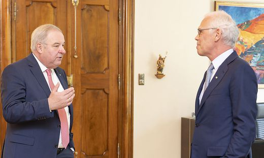 Hermann Schützenhöfer und Stefan Stolitzka im Juli 2020