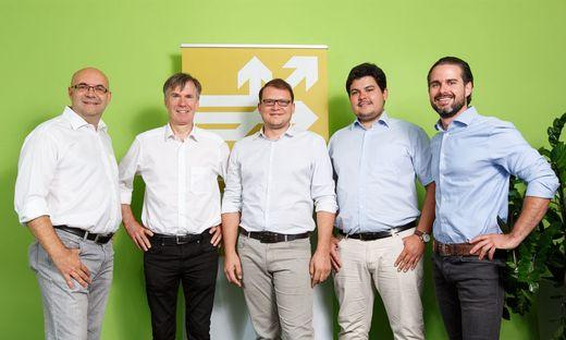 Frank Kappe, Gerhard Pail (KaPa Ventures), Martin Schmidt, Christoph Lalej (Logoshuffle), Matthias Ruhri (Up to Eleven)